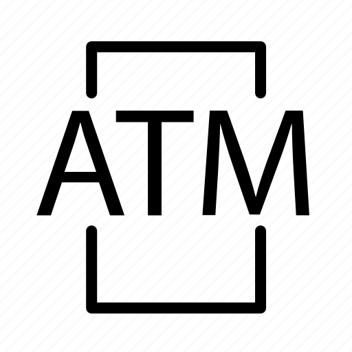 atm, location, teller machine icon