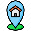 location, home, map, pin, house