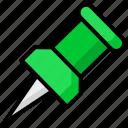 push, pin, marker, location