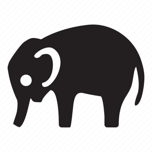 africa, animal, circus, elephant, locations, safari, zoo icon