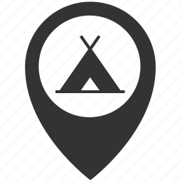 camping, place icon
