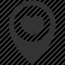 favourite, location icon