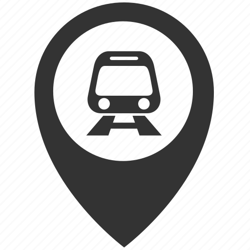 rail, station icon