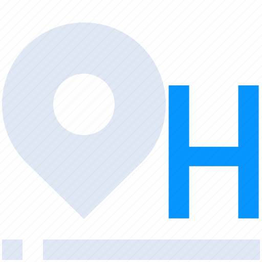 Hotel, location, locator, map, pin icon - Download on Iconfinder