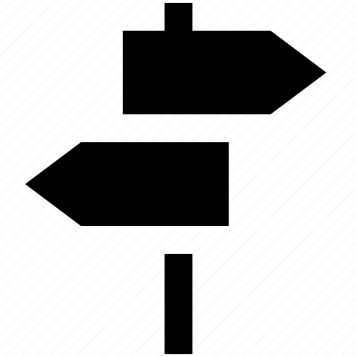 arrows, country, direction, signpost, street icon