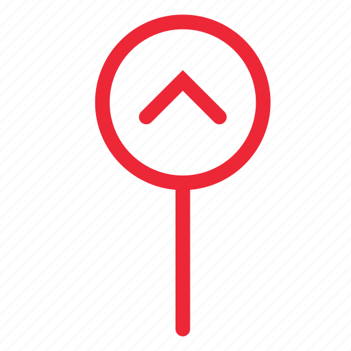 Arrow, direction, location, map, marker, navigation, up icon - Download on Iconfinder