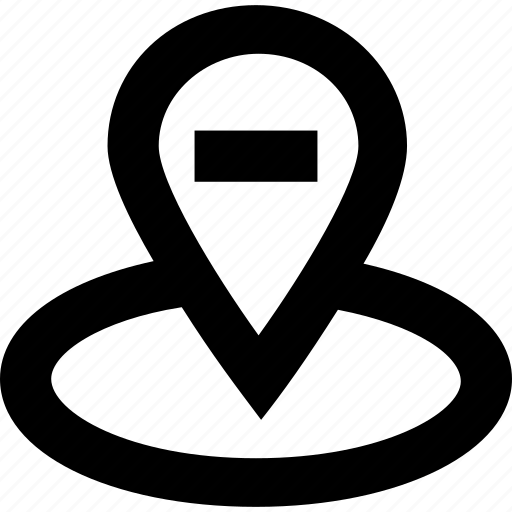gps, remove, remove location, tracker icon