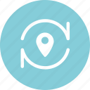 location, navigation, place, position icon