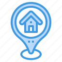 house, home, map, pin, location