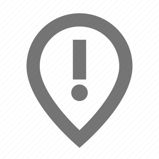 alert, error, exclamation, location, marker, navigation, pin, pointer icon