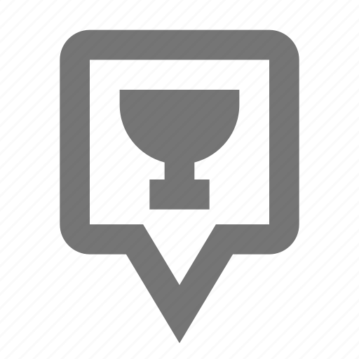 bar, beverage, cup, location, pin icon
