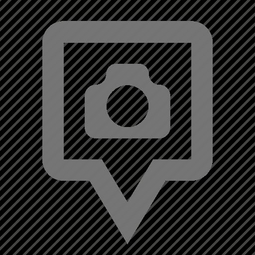 camera, location, photo, pin icon