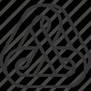 chain, link, triangle icon