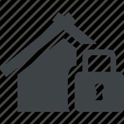 closed, house, key, lock, safe, secure icon