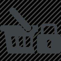 cart, closed, key, lock, safe, secure icon