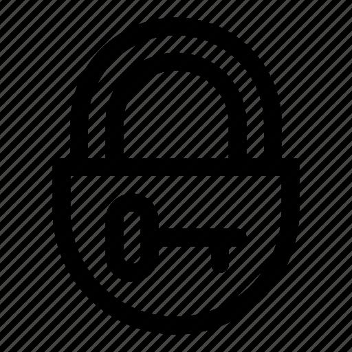closed, key, lock, locked, no access, padlock, unlock icon