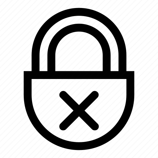 closed, lock, locked, no access, protection, secure, security icon