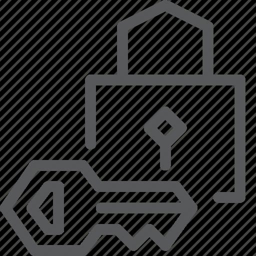 encrypted, key, lock, padlock, protection, safe, security icon