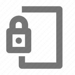 door, lock, padlock, security icon