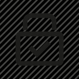 house, lock, ok, smart icon