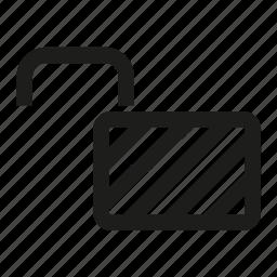 lock, unlocked icon