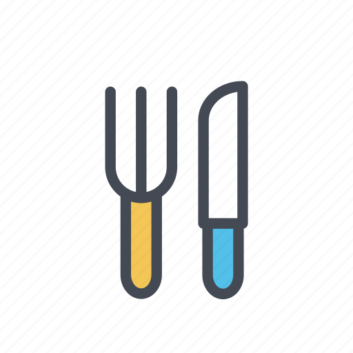 fork, kitchen, knife, restaurant, utensil icon