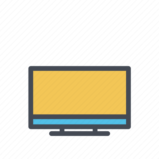 computer, flat screen, hd, lcd, monitor, television, tv icon