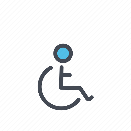 accessible, disabled, handicap, handicapped, patient, wheelchair icon