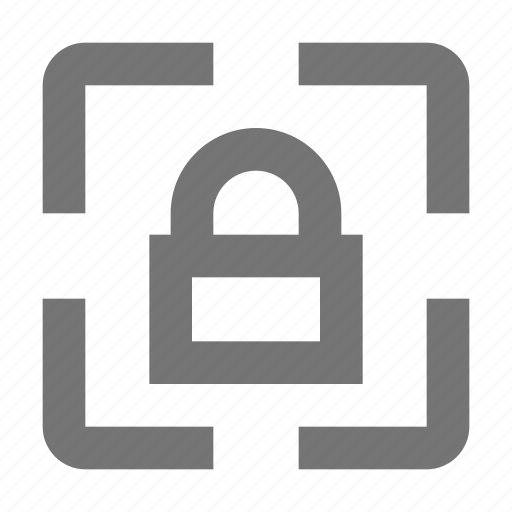focus, lock, login, padlock, protection, safety, security, selection icon
