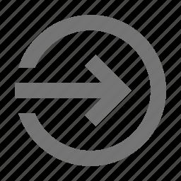 arrow, forward, login icon