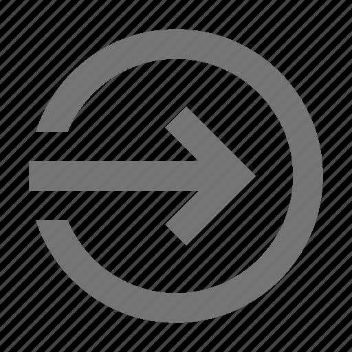 arrow, circle, enter, in, log, login, next, sign icon