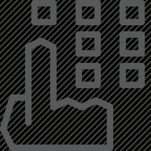click, cursor, dial, hand, login, pointer, touchscreen icon