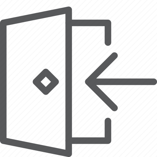 arrow, door, enter, login, open, sign in, user icon
