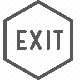 close, exit, hexagon, leave, login, logout, out, sign icon