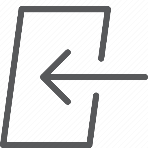 arrow, door, enter, in, log, sign in icon