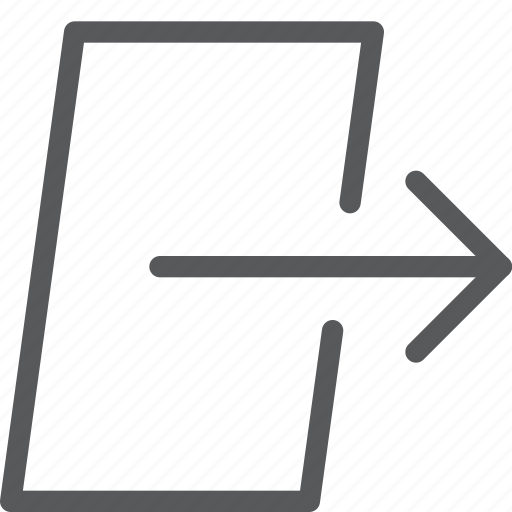 arrow, door, exit, log, login, out, sign out icon