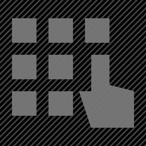 cursor, dial, hand, keypad icon