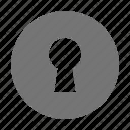 key hole, lock icon
