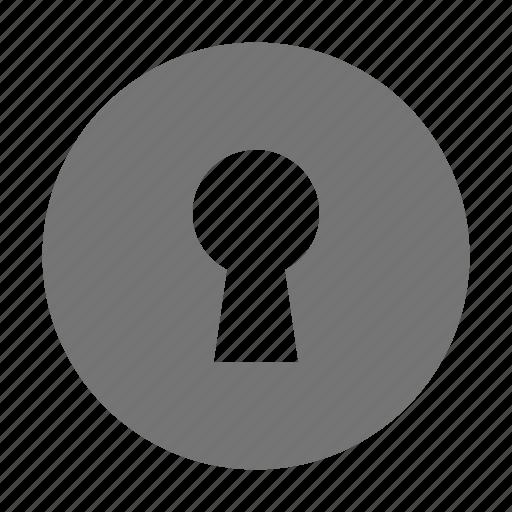 Key hole, lock icon - Download on Iconfinder on Iconfinder