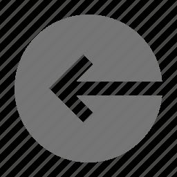 arrow, login, logout icon