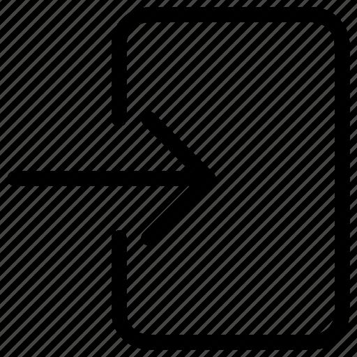 arrow, direction, enter, login, pointer icon