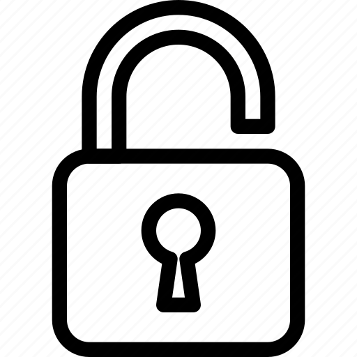 lock, open, password, safety, secure icon
