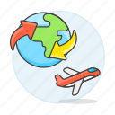 air, shipping, worldwide, logistic, international, service, cargo, supply, plane, transport icon