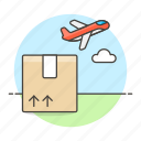air, airplane, cargo, freight, international, logistic, package, plane, service, shipping, transport icon