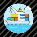 cargo, container, crane, international, logistic, marine, service, ship, shipping, transport