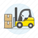 box, electric, forklift, inventory, jack, lift, logistic, management, package, pallet, warehouse