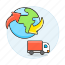 shipping, ground, truck, logistic, worldwide, international, service, cargo, supply, transport