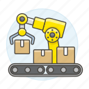 machine, robot, package, warehouse, management, logistic, inventory, box, arm, industry