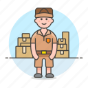 delivery, full, logistic, mailman, male, man, manager, package, service, supply, transport