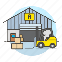 inventory, package, warehouse, logistic, electric, transport, forklift, service, management
